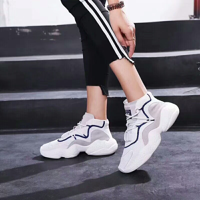 2018 sports flying color station woven fashion European casual mesh Harajuku with matching shot shoes star street rrSq1A