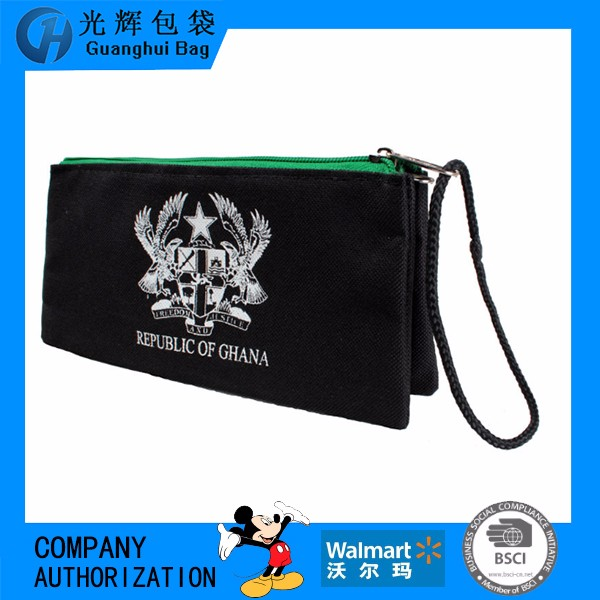 oxford material pencil bag with handle strap high quality students use pencil bags