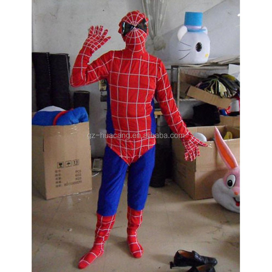 Super quality with cheap price comfortable spider man costumes