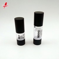 Round Cylinder Black Filling Airless Cosmetic Jar Vacuum Bottle With Aluminum Cover Cap
