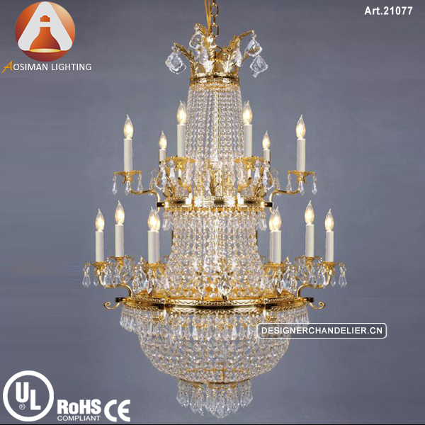 Luxury Empire Gold Chandelier for Hotel
