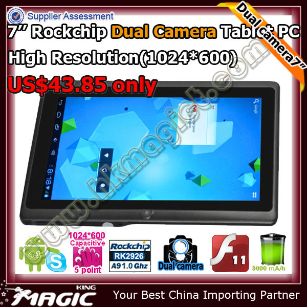Rockchip 2926 android 4.1 tablet cortex a9 paypal accepted