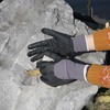 NMSAFETY nylon and spandex liner dipped super foam nitrile dots on palm working gloves
