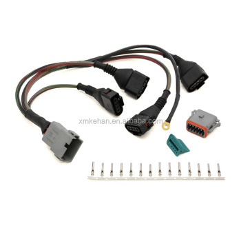 odm oem rohs compliant 18 pin wiring harness connector for honda