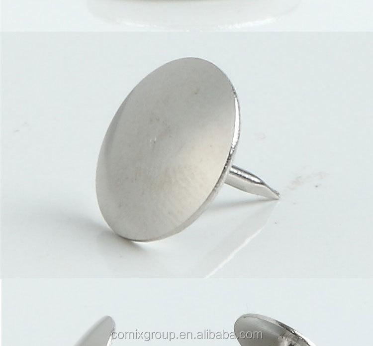 silver push pin