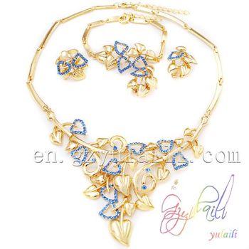 2014 Fashion Jewelry Set Italian Gold Jewellery Imitation Jewelry