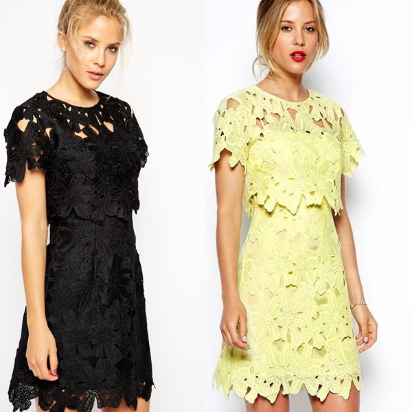 China Wholesale Clothing Cutwork Lace Dress Designer One Piece ...