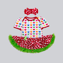 QX1103 2017 the summer new 0-2 years old baby cotton short sleeve dress children rompers manufacturers selling