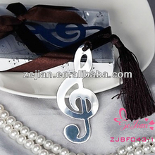 Unique Wedding Favors- Music Note Metal Bookmark Christmas Gifts
