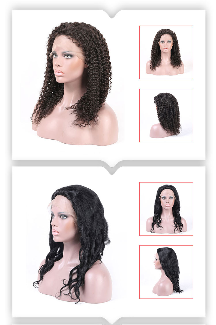 Brazilian human hair lace wig vendors short curly wig for black woman