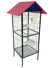 New Bird Cage Large White Playtop Parrot Finch Cage Macaw Cockatoo House