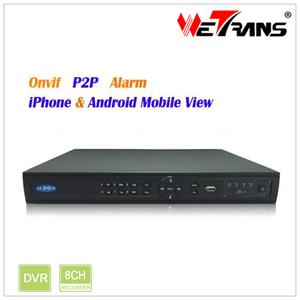 H264 Network DVR Password Reset TN-808 Mobile Watch 8ch p2p NVR Low Cost  DVR CCTV Camera