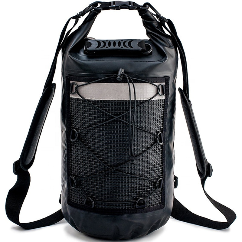 2020 New Arrivals 2L/5L/10L/20L/25L/30L/40L/50L/60L/80L/100L Waterproof Dry Bag Backpack with Handle & Reflective Net Pockets