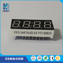 China wholesale green indoor usage 0.36 inch 4 digit 7 segment small custom led number display