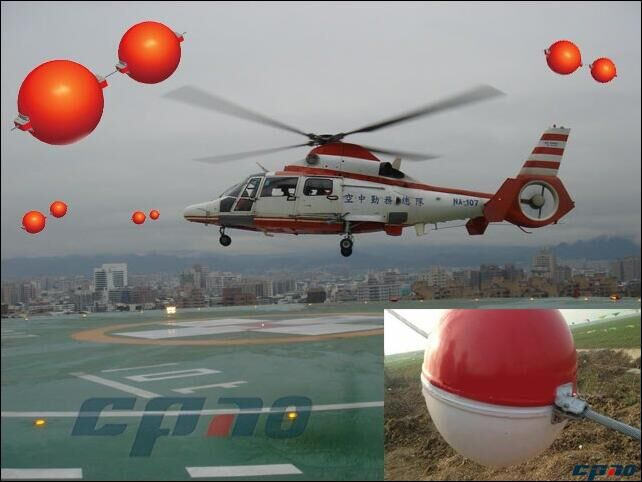 Aerial Wire Marker Spheres/aircraft Warning Ball For Overhead Wire ...