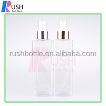 250ml PET empty Plastic refill Perfume sprayer bottles 24/410 sliver Aluminum Fine Mist <strong>Spray</strong> For Perfume Bottle