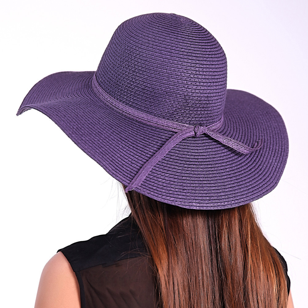 eb5d1261df7 Get Quotations · 4 Colors 2015 Hot Sale Trendy Style Wide Brim Floppy Solid Straw  Hat with Strings Casual