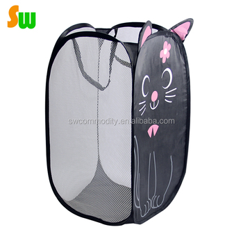 Cute Folding Pop Up Laundry Basket