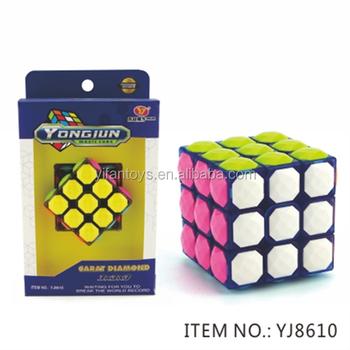 2016 Yongjun Abs Cube Yj8610 6cm Yulong 3x3 Magic Cubes Diy Toys ...