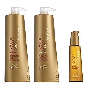 Joico K Pak Color Therapy Shampoo & Conditioner, 33.8 oz Duo & Joico Restorative Oil, 3.4 oz by Joico