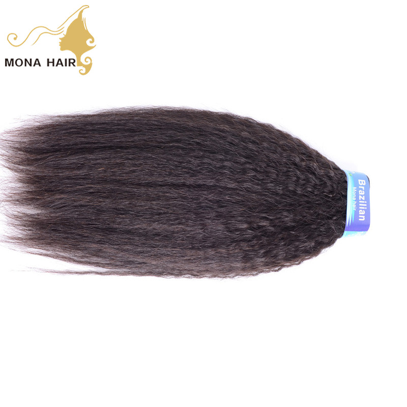 Hot style new arrival remy double weft full cuticle brazilian afro kinky straight hair weave