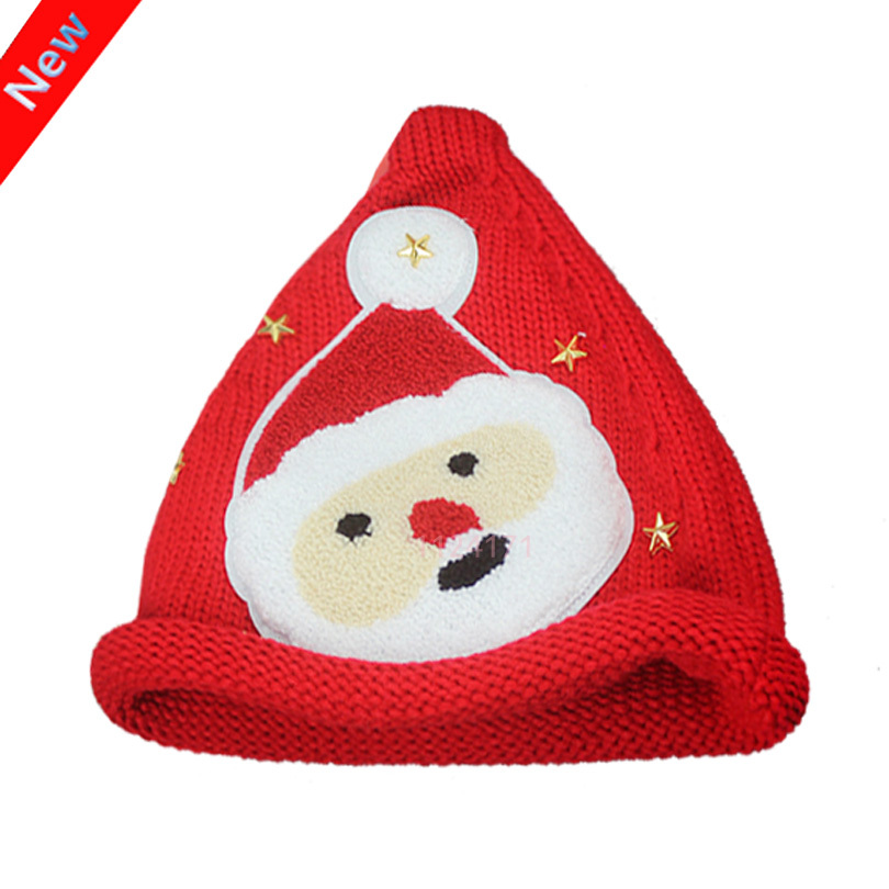 2015 Winter Cap Gorros Adult Wool Mask Casquette Enfant Hats Skullies & Beanies Cartoon Santa Claus Knitted Hat for Women