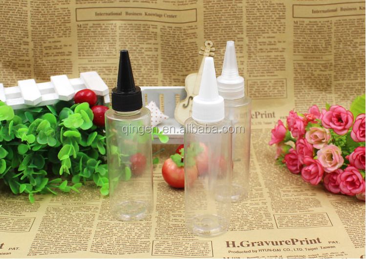 Wholesale small empty bottle paint ointment painting sand painting special plastic pointed bottle / 60ml graffiti painting