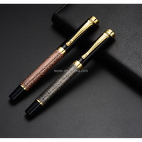 Luxury classic black ink gold tip fountain pen