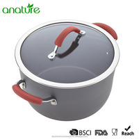 HQ-1310 Hard anodized Aluminum Camping Cookware Sets Kitchen Saucepot Suitable for Cooking Outside with competitive price