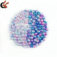 wholesale colorful plastic pearl with hole or without hole