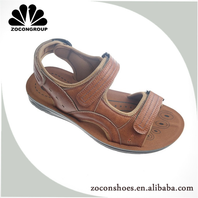 China New Design Outdoor Comfort Pu Injection Man Sandal