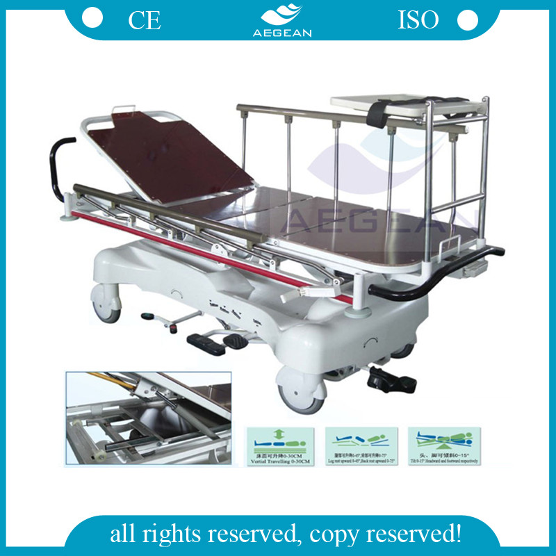 Ag-hs005 With Rise-and-fall Function Hydraulic Ambulance Stretcher ...