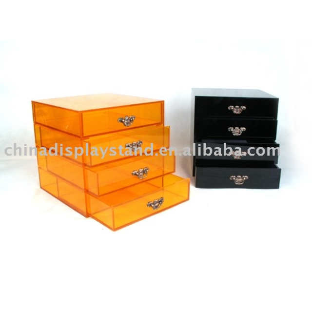 Acrylic Jewelry Cabinet/Colored jewelry box/drawer box