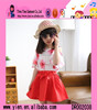 2015 Fashion One Piece Korean Style Princess Dress High Quality Printed Cheaper Princess Frock Design Dress