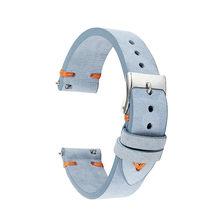 Кожаный синий ремешок для часов 18 мм 20 мм 22 мм замшевые кожаные ремни для часов Высокое качество ремешок для часов для мужчин и женщин KZSD01(Китай)