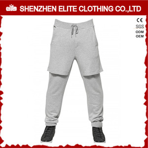 wholesale custom men high quality cotton fleece jogging pants with skirt