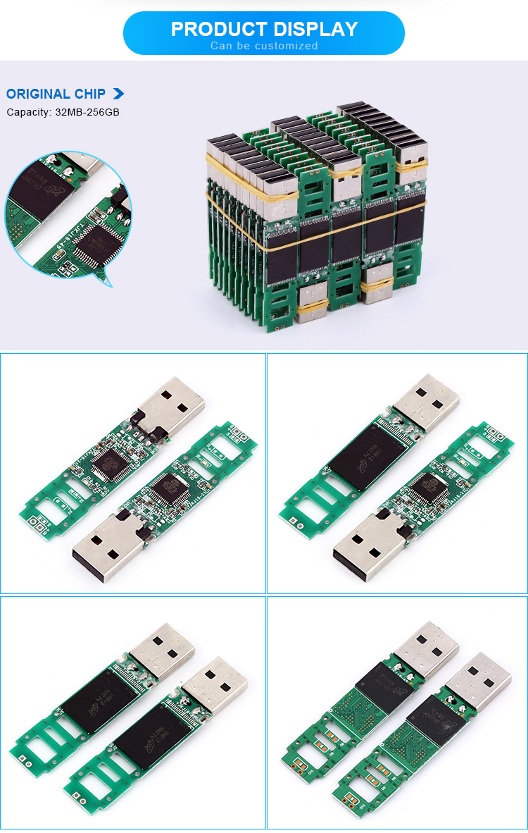 USB flash drive circuit board 256GB memory chip 2.0 USB disk no case bare chipset