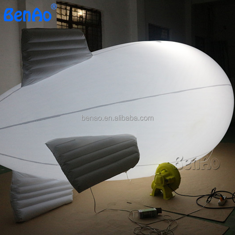 AO174 customized logo New 6m Inflatable PVC Blimp, Airplane inflatable zeppelin helium with LED light,Inflatable for sale
