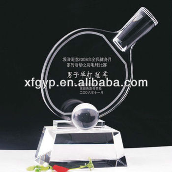 PingPong/ table tennis crystal trophies and gifts