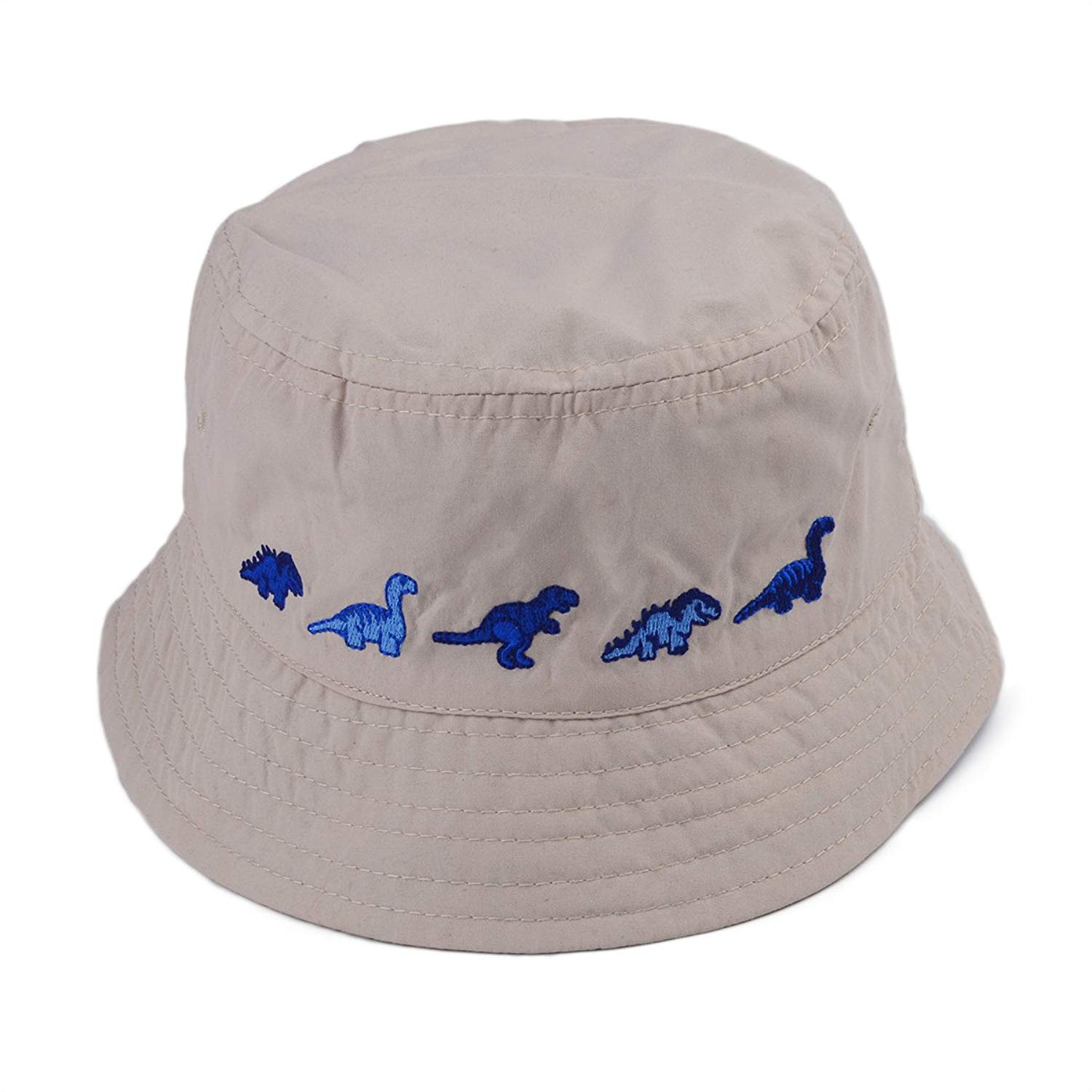 333f2ec96aa Get Quotations · Baby Boys Toddler Cotton Bucket Hat Reversible Sun Hat UV  Protection