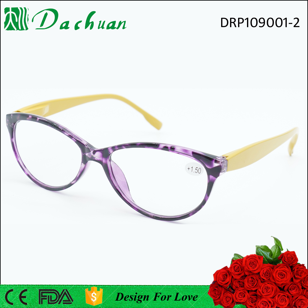 spring&summer hot sale PC reading glasses with demi color