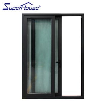 Commercial Buildings Double Glass Aluminum Black Framed Shower