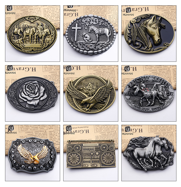 3D logo altın gümüş kaplama paslanmaz çelik metal özel kovboy kemeri tokası üreticisi