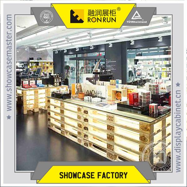 Retail Store Design Job Description: Cosmetic Retail Store Bodycare Display Counter Design,Wood
