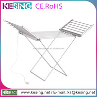 Folding Wing Portable Aluminum Heated Electric Clothes Drying Rack