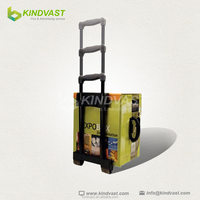 Recycle paper bag/cardboard trolley case/carton trolley with wheel and handle