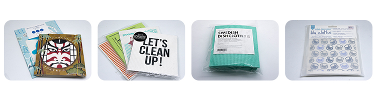 White printed household cleaning cellulose swedish dish cloth