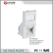 LY-FP155 45Degree chinese cabinet 86*86mm cat6 Network Face Plate