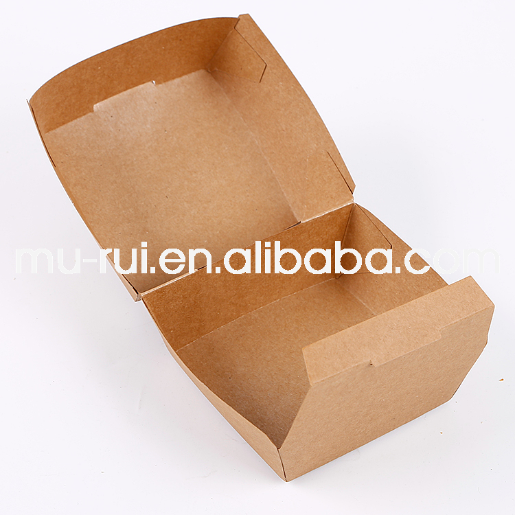 Factory outlets hamburger packaging paper box