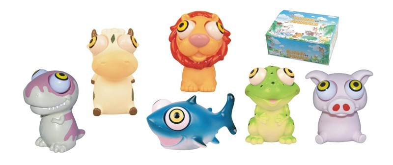 soft pvc squeeze animals pop eye toys in disney approved factory